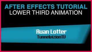 After Effects Tutorial Lower Third Animation