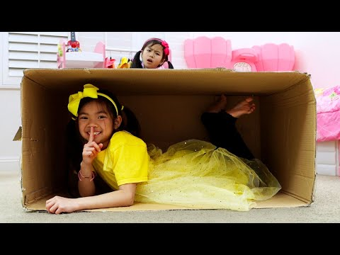 Emma and Jannie Pretend Play Hide and Seek Learn To Help Others Kids Story