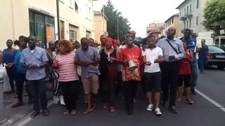 Africans in Italy hold vigil mother & daughter killed by their own footballer son