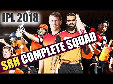 Xxx Mp4 IPL Auction 2018 SRH Team 2018 Sunrisers Hyderabad COMPLETE SQUAD With Price वनइंडिया हिंदी 3gp Sex