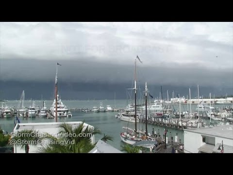 Key West, FL Squall Line Time Lapse & Storms - 1/7/2017