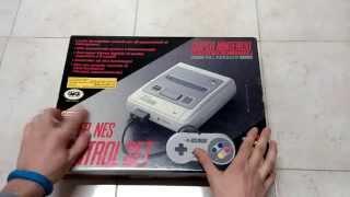 Unboxing SNES, Super Nintendo 16 bit, spettacolo!