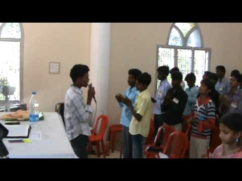 worship in youth retreat on 9th june 2011 by Bro K Elisha,Burning tools Ministries