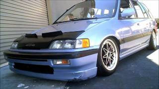 1990 Honda Civic Wagovan (Real Time 4WD) on DR20's (15x7's) and D2 Coilovers w/ Custom rear duckbill