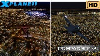 [P3D v4.1] vs [X-Plane 11] - Night Lighting
