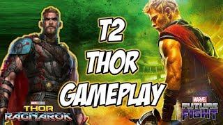 Marvel Future Fight: T2 Thor Gameplay [Build + Story, TL, TU, VS, WBI, WB] - Ragnarok Uniform