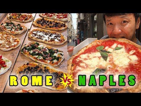 BEST PIZZA in ITALY NAPLES Pizza vs. ROME Pizza