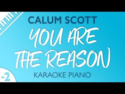 You Are The Reason (LOWER Piano Karaoke) Calum Scott