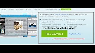 Get  Free giveways package of Hd video converter pro with license key limited period #computerrepair