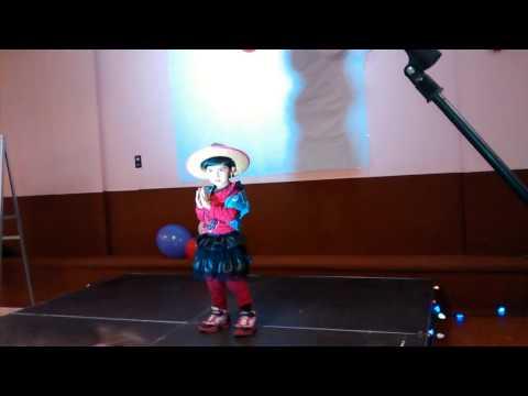3 years old Indian girl dance