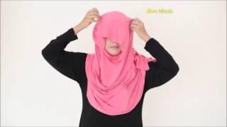 Tutorial Cara Pakai Tudung Instant 2 Muka (2 Loops) Hijab 2015 Cotton