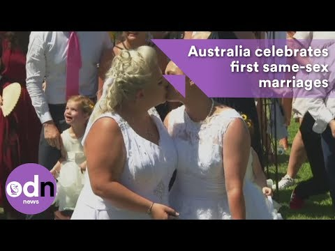 Xxx Mp4 I Do Australia Celebrates First Same Sex Marriages 3gp Sex