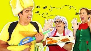 فوزي موزي وتوتي - الذبابة - fly at the restaurant