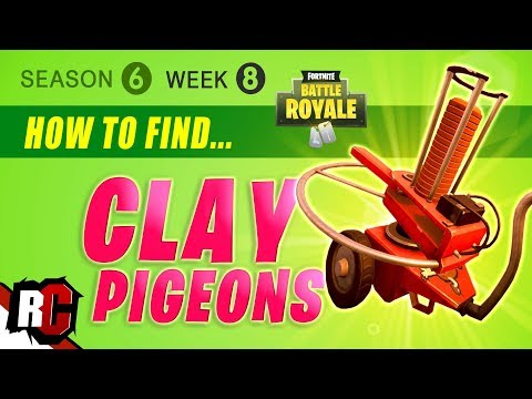 Fortnite WEEK 8 Easy CLAY PIGEON Locations (Season 6) Get a score of 3 on Clay Pigeons