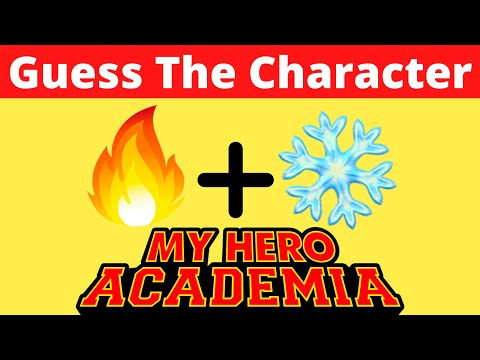 Guess The MY HERO ACADEMIA Character by Emoji Quiz Ultimate Anime Quiz