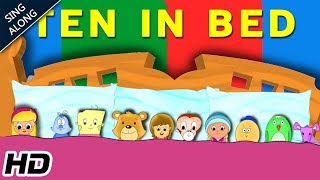 Ten In The Bed (HD) SING ALONG Nursery Rhyme For Children | Learning Song | Shemaroo Kids