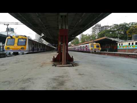 Two generations of Mumbai local : Siemens and Bombardier parallel departure!