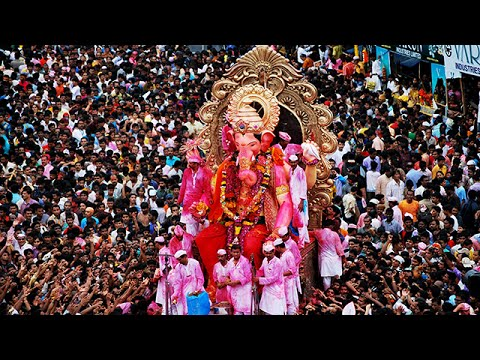 Ganpati Visarjan girgaon ♥ Ganpati visarjan mumbai ♥ Ganpati Visarjan 2016 Mumbai Maharashtra India
