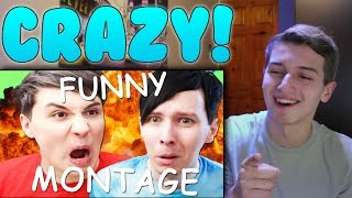 DAN AND PHIL FUNNY GAMING MONTAGE Reaction