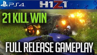H1Z1 PS4 *NEW* SKINS! FIRST 21 BOMB ON FULL GAME!!! + BIG BATTLE PASS GIVEAWAYS! #H1Z1 #H1Z1PS4