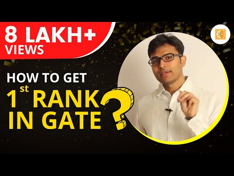 How to get 1st Rank in GATE