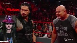 WWE Raw 1-2-17 Goldberg and Roman Spear BRAUN