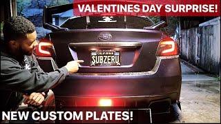 SURPRISING Grandmother on VALENTINES Day! New CUSTOM Plates