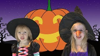 Head, Shoulders, Knees, and Toes Song for Kids (speeding up) - Halloween style!