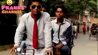 BANGLA NEW FUNNY VIDEO Rikshawalar Chele/pranks channeL