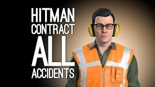 Hitman Contract: ALL ACCIDENT KILLS - Plywood and Paste Contract (Let's Play Hitman on Xbox One)