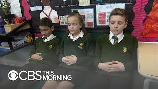 Relaxation techniques teaching U.K. students to calm down
