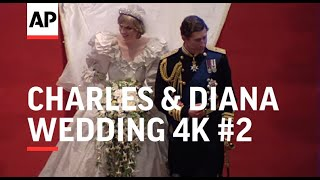 Charles & Diana Wedding in 4K | Part 2 | ceremony in St Paul's Cathedral | 1981