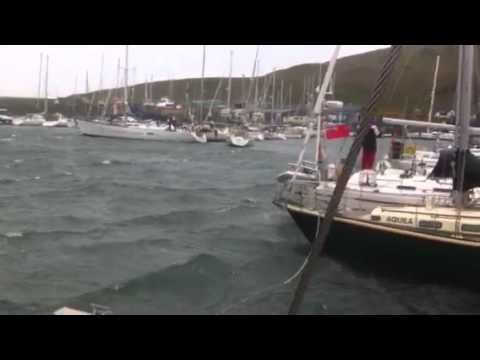 Yacht breaks mooring in storm and parks itself in marina a mile away