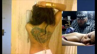 Tonto Dike shows off her full back tattoo (PHOTOS)