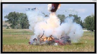 9 Brick Sparkler Bomb Demolishes Car