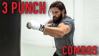 BOXING FAT LOSS WORKOUT | BEGINNER 3 PUNCH COMBOS | Heavy Bag (Pt. 2)