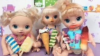 Baby Alive Oyuncak Bebekler ile Dondurma Partisi | Bebek Videoları | EvcilikTV