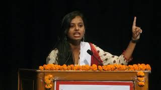 Ms. Akanksha Mishra, 3rd Prize Winner of National Declamation Contest - 2018 from Chhattisgarh State