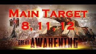 War Commander : Great Awakening Main target 8, 11, 12