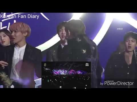 [BTS]Jungkook&V [EXO]Baekhyun reaction Bi Rain - Rainism(Golden Disk Awards 2017)