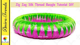 Zic Zag Weaving Silk thread bangle zigzag ziczag
