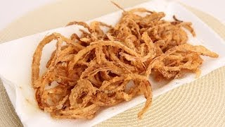 French Fried String Onions Recipe - Laura Vitale - Laura in the Kitchen Episode 665