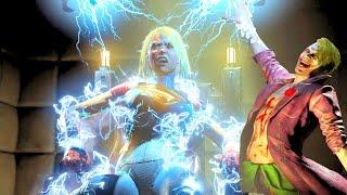 Injustice 2 All Super Moves on Supergirl (No HUD) 4K UHD 2160p