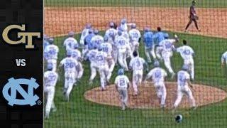 Georgia Tech vs. North Carolina Baseball Highlights (2018)