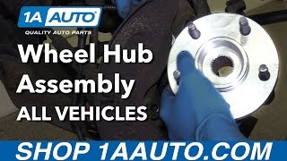 How to Install Replace Front Wheel Hub Assembly Any Vehicle!