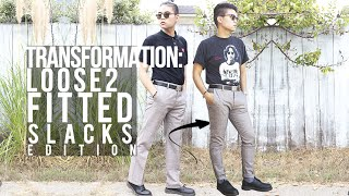 Transformation: Loose to Fitted ➥ Slacks Edition!