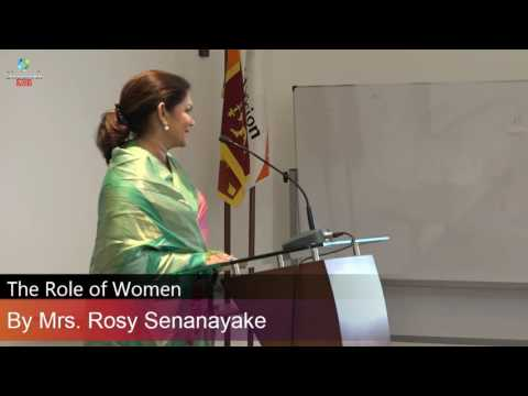 The Role of Women - By Rosy Senanayake