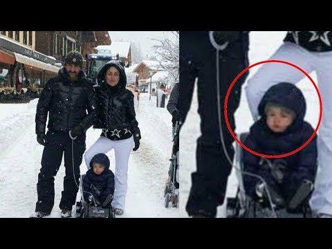 Taimur Ali Khan Enjoys Snowfall In Switzerland With Kareena Kapoor Khan And Saif Ali Khan