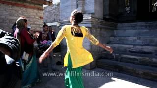 Hijras or Eunuchs dancing at Jubbal Palace