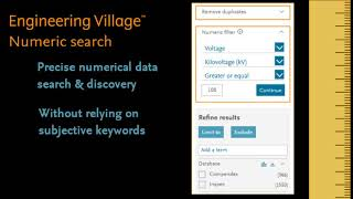 Tutorial Numerical Data Search on Engineering Village